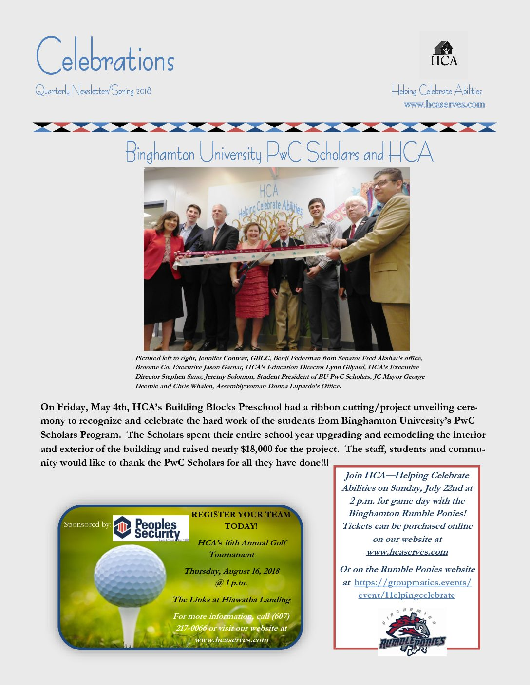 Spring/Quarterly Newsletter